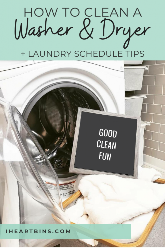 how to clean a washer & dryer