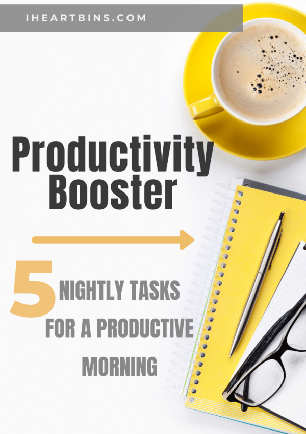 Productivity Booster: 5 Nightly Tasks for a Productive Morning