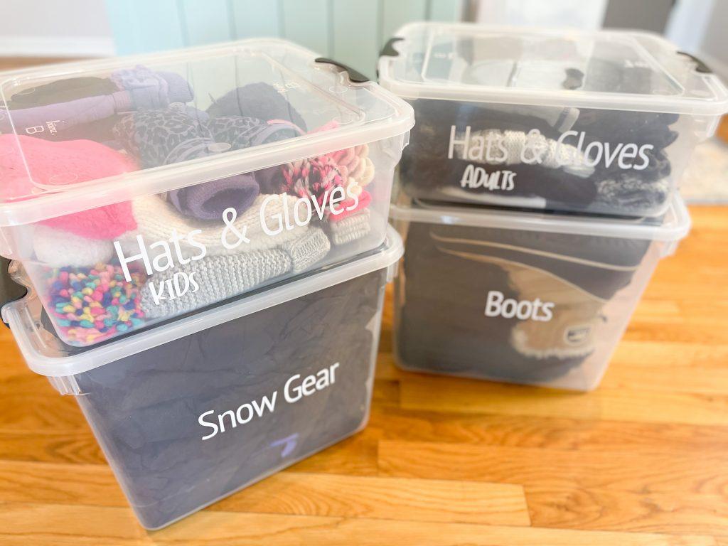 Organize Seasonal Gear