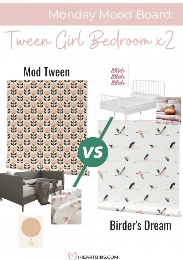 Monday Mood Board: Tween Girl Bedroom Two Ways